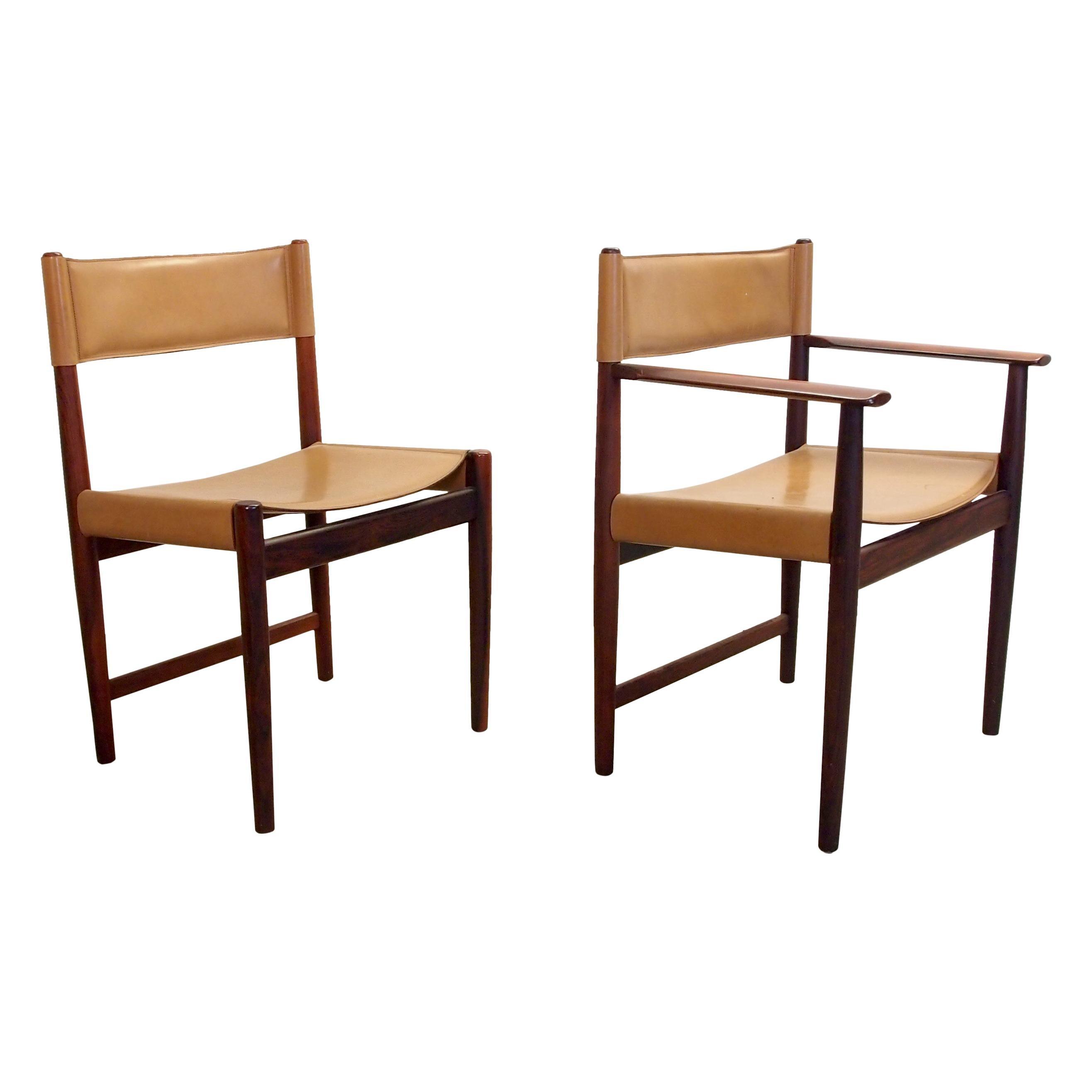 Set 4 Midcentury Pallisander Chairs by Kurt Ostervig for Sibast Furniture