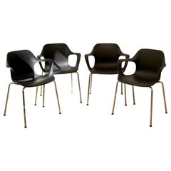 Set 4 VITRA Industrial Modern HAL Armchairs by Jasper Morrison, Sold as a Pair