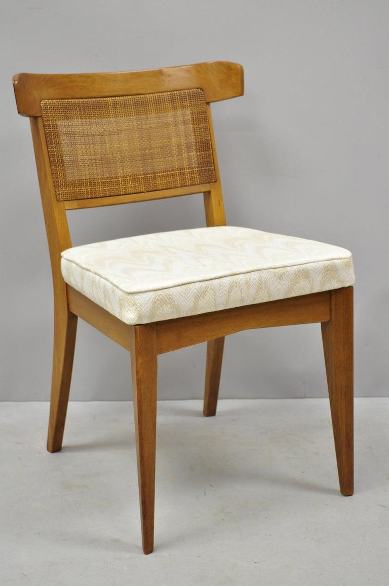 mid century modern dining room chairs | Set 6 Curved Cane Back Walnut Mid-Century Modern Dining ...