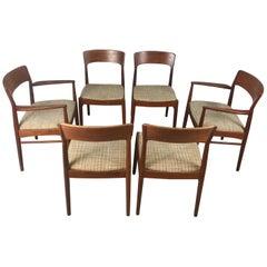 Set 6 Danish Teak Dining Chairs by Kai Kristiansen for K.S, Mobler, circa 1960