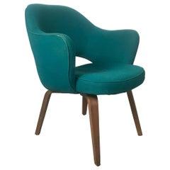 Set 6 Early Eero Saarinen /Knoll Executive Armchairs, Walnut Legs