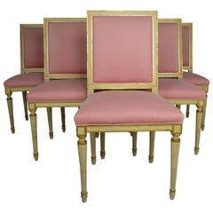Set 6 French Painted Dining Chairs