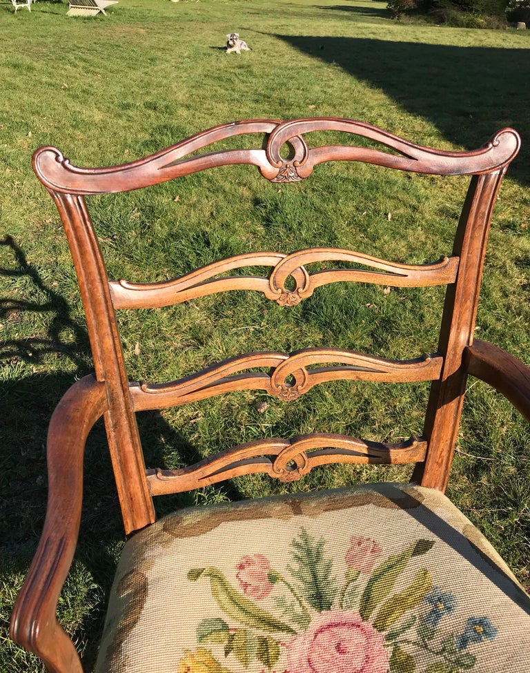 Set 8 Chippendale Period Mahogany Dining Chairs, circa 1770 In Good Condition For Sale In Lymington, GB