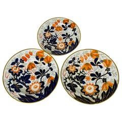 Set Antique English Imari Dishes Dinner Plates Soup/Pasta Bowls Salad/Dessert