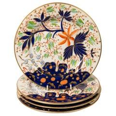 Set Dozen Antique English Imari Style Plates