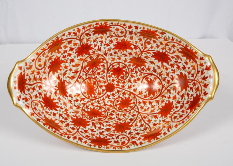 Set of Antique Porcelain Dishes in Coalport's Red Chrysanthemum Pattern For Sale 2