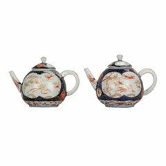 Set Antique Rare 1670-1690 Japanese Imari Porcelain Teapot Arita Edo Japan