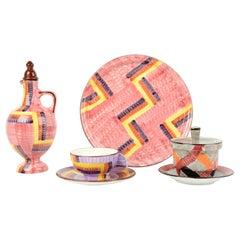 Set of Antique / Vintage German Art Deco 1920 Eva Ziesel Stricker Schramberg Jar