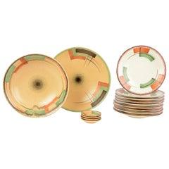 Set of Antique / Vintage German Art Deco Ceramic Plates 1920-1930 Esterwalda