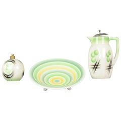Set of Antique / Vintage German Art Deco Objects 1920-1930 Spritz Decor