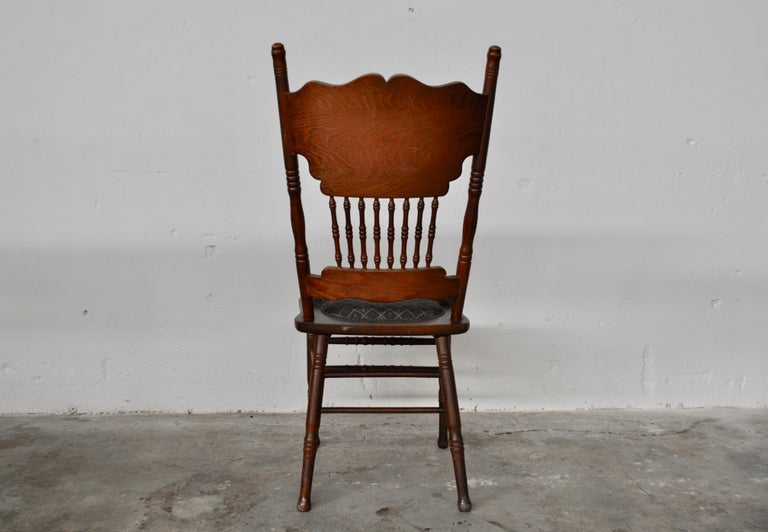 Set of ashwood chairs, Italia, 1920s. Origin Austria. Pantographed back with floral motifs. Padded seat on solid wood. The chairs are covered in two different types of fabrics.