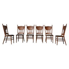 Set of Ashwood Chairs, Austria, 1920s