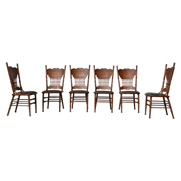 Set of Ashwood Chairs, Austria, 1920s For Sale