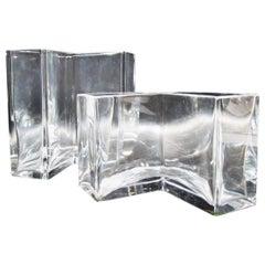 Set Baccarat Crystal France Angolari Vases Roberto Sambonet