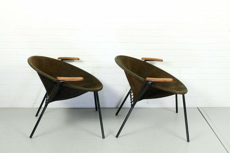 Mid-Century Modern Set Balloon Chairs by Hans Olsen for Lea Design, 1960s For Sale