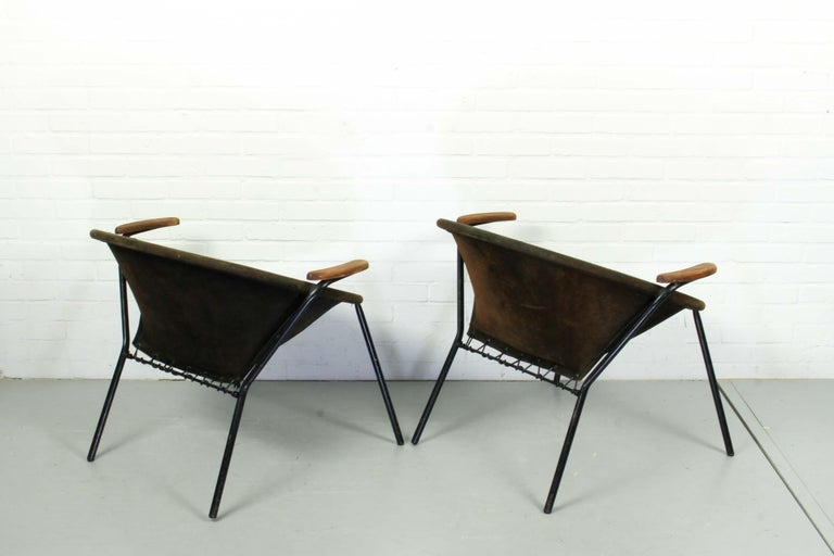 Set Balloon Chairs by Hans Olsen for Lea Design, 1960s In Distressed Condition For Sale In Appeltern, Gelderland