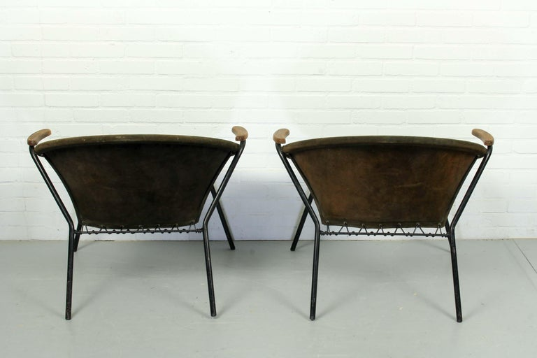 Leather Set Balloon Chairs by Hans Olsen for Lea Design, 1960s For Sale