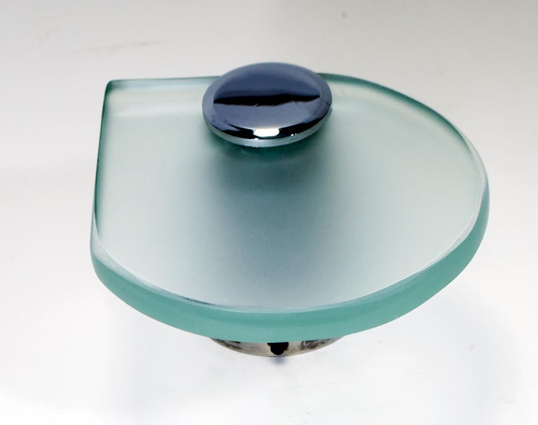 Fontana Arte Mid-Century Modern Bathroom Set with Mirror and Lights, 1960s For Sale 8