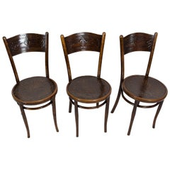 Set for Three J.J. Kohn Bentwood Chairs from Austria/Vienna
