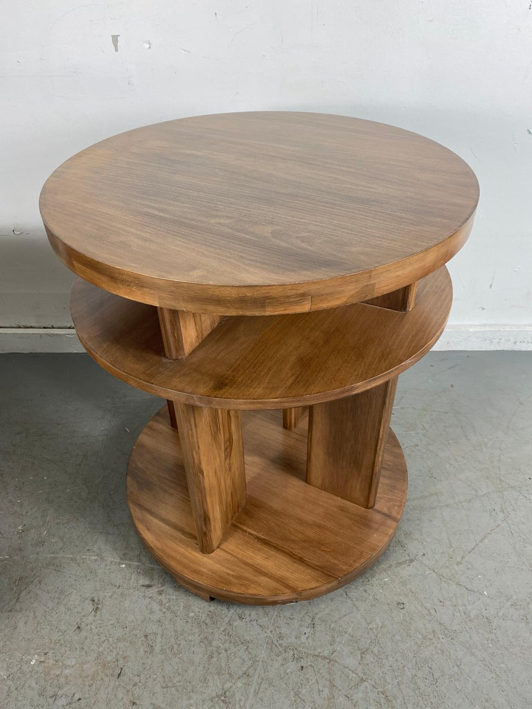Set of Four Classic Art Deco Tables by Brown Saltman, Coffee, Ends, Lamp Table For Sale 4