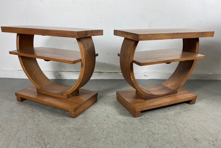 Set of Four Classic Art Deco Tables by Brown Saltman, Coffee, Ends, Lamp Table For Sale 5
