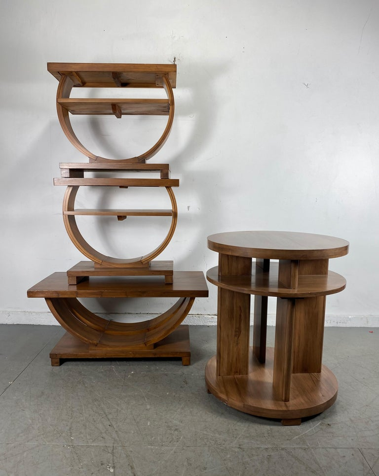 American Set of Four Classic Art Deco Tables by Brown Saltman, Coffee, Ends, Lamp Table For Sale