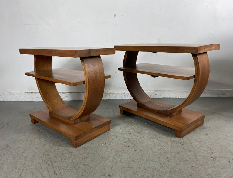 Set of Four Classic Art Deco Tables by Brown Saltman, Coffee, Ends, Lamp Table In Good Condition For Sale In Buffalo, NY