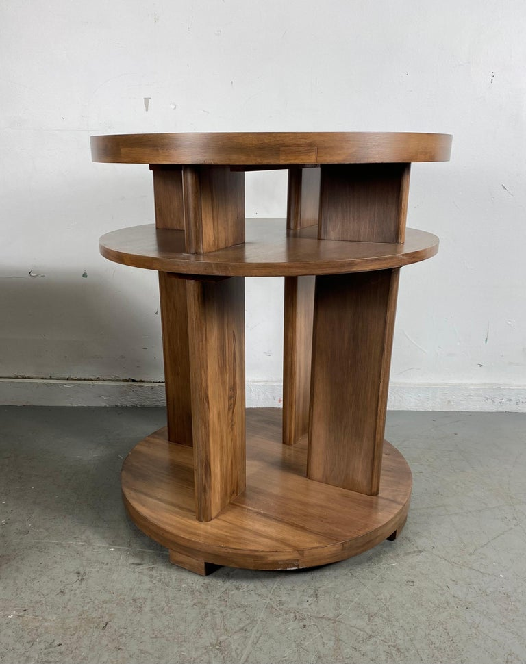 Wood Set of Four Classic Art Deco Tables by Brown Saltman, Coffee, Ends, Lamp Table For Sale