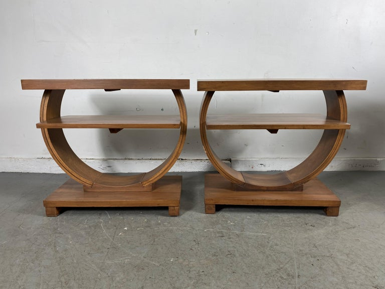 Set of Four Classic Art Deco Tables by Brown Saltman, Coffee, Ends, Lamp Table For Sale 1