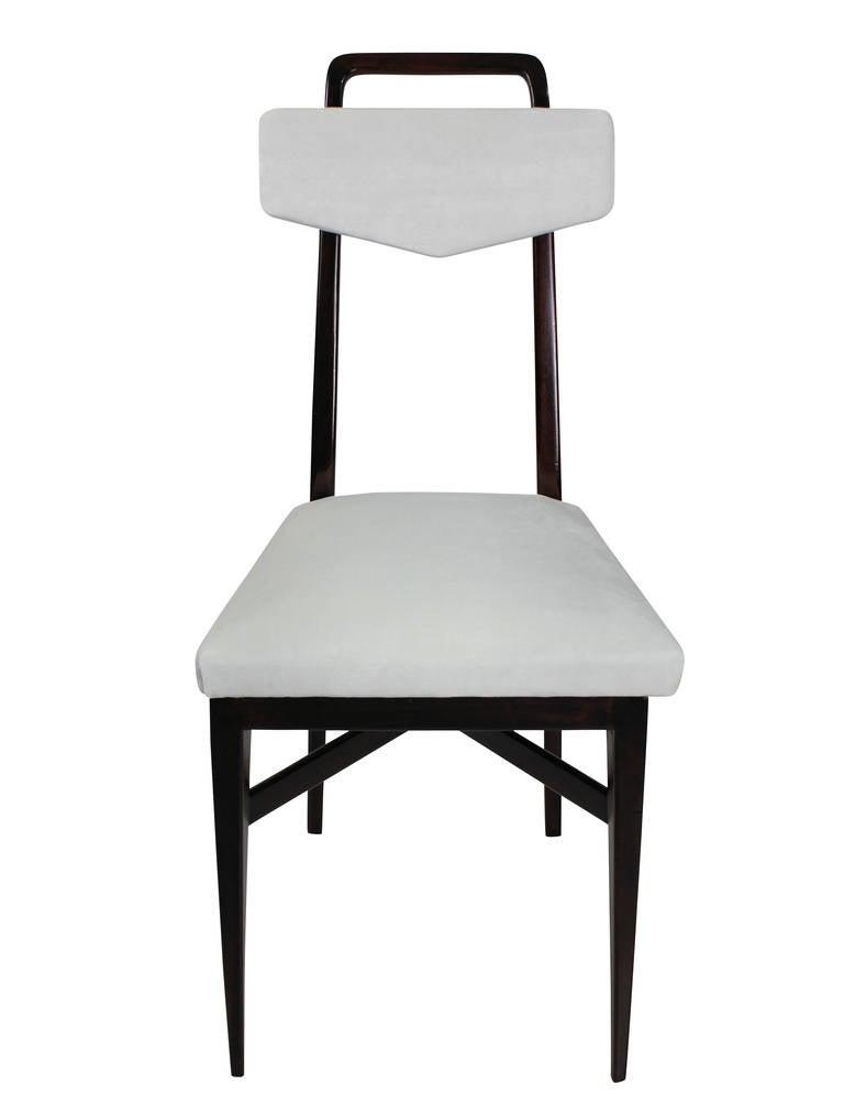 Mid-Century Modern Set Four Midcentury Italian Kitchen Chairs
