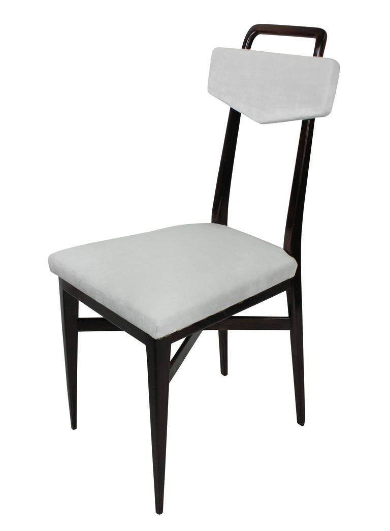 Set Four Midcentury Italian Kitchen Chairs In Good Condition In London, GB