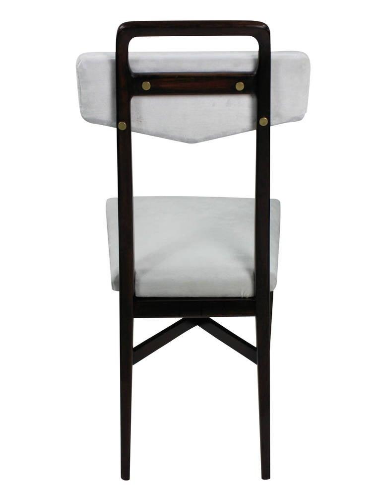 Mid-20th Century Set Four Midcentury Italian Kitchen Chairs