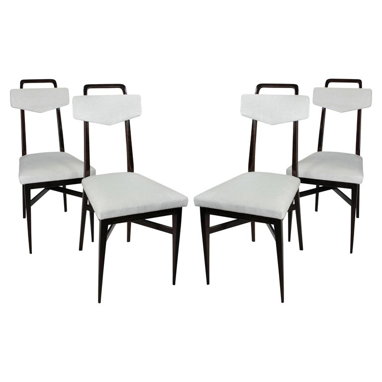 Set Four Midcentury Italian Kitchen Chairs