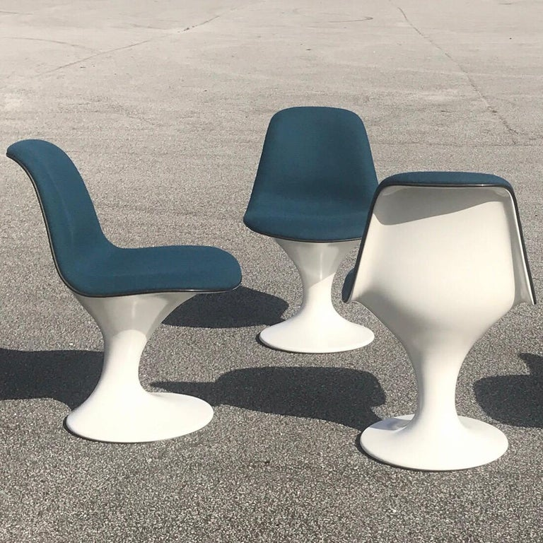 Set of Four Orbit Dining Chairs by Farner and Grunder for Herman Miller, 1960s For Sale 3