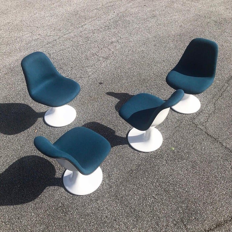 Set of Four Orbit Dining Chairs by Farner and Grunder for Herman Miller, 1960s For Sale 4