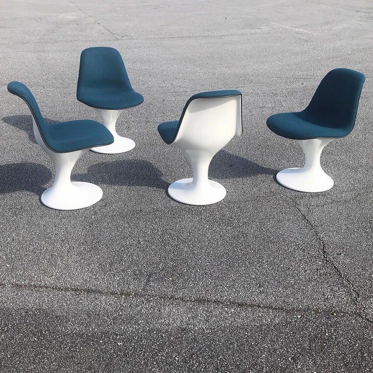 Swiss Set of Four Orbit Dining Chairs by Farner and Grunder for Herman Miller, 1960s For Sale