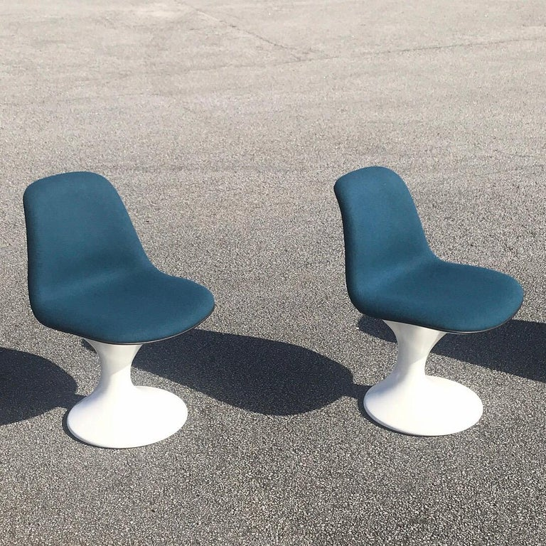 Wool Set of Four Orbit Dining Chairs by Farner and Grunder for Herman Miller, 1960s For Sale