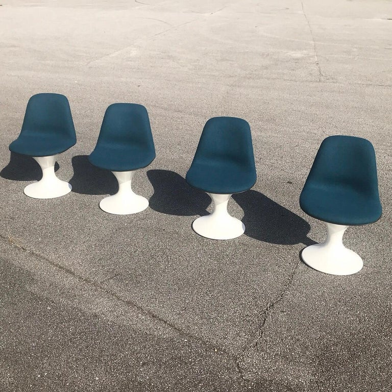 Set of Four Orbit Dining Chairs by Farner and Grunder for Herman Miller, 1960s For Sale 1