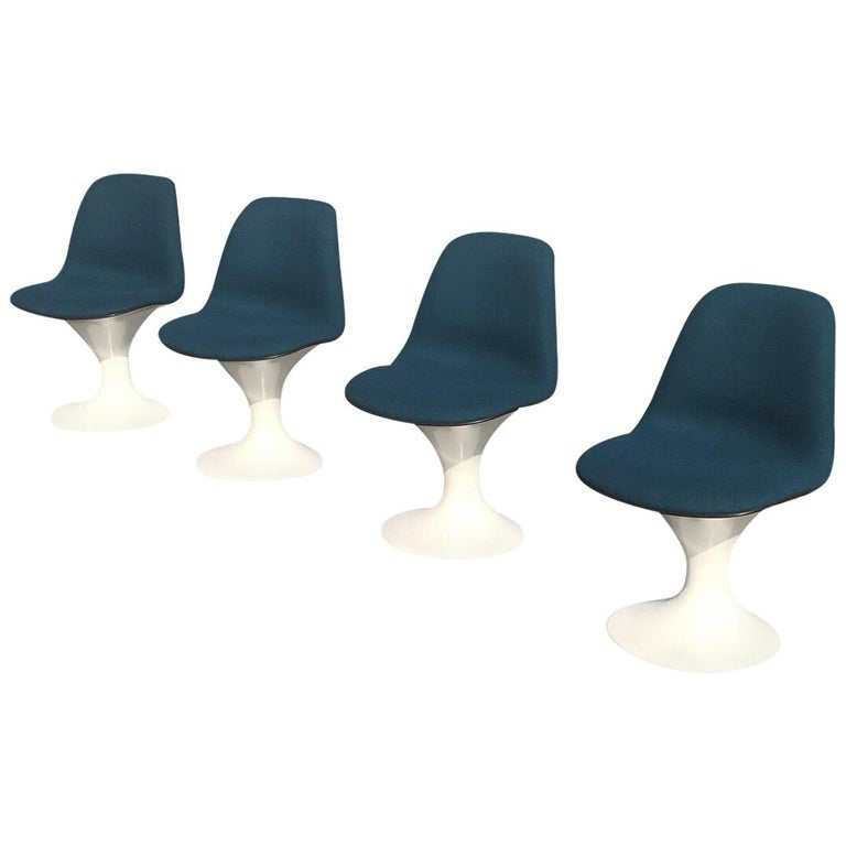 Set of Four Orbit Dining Chairs by Farner and Grunder for Herman Miller, 1960s For Sale