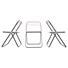 Set Giancarlo Piretti Castelli Plia Folding Chairs