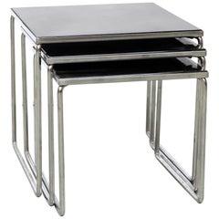 Set Glass and Chrome Nesting Tables