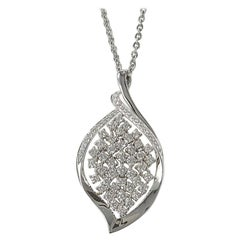 18 Karat White Gold Diamond Pendant