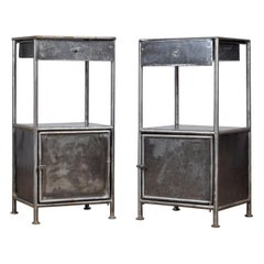 Set Iron Nightstand, 1920s