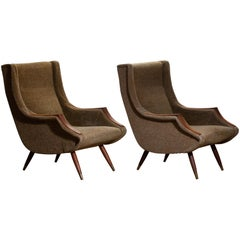 Set Italian Lounge / Easy Chairs from the 1950s by Aldo Morbelli for Isa Bergamo