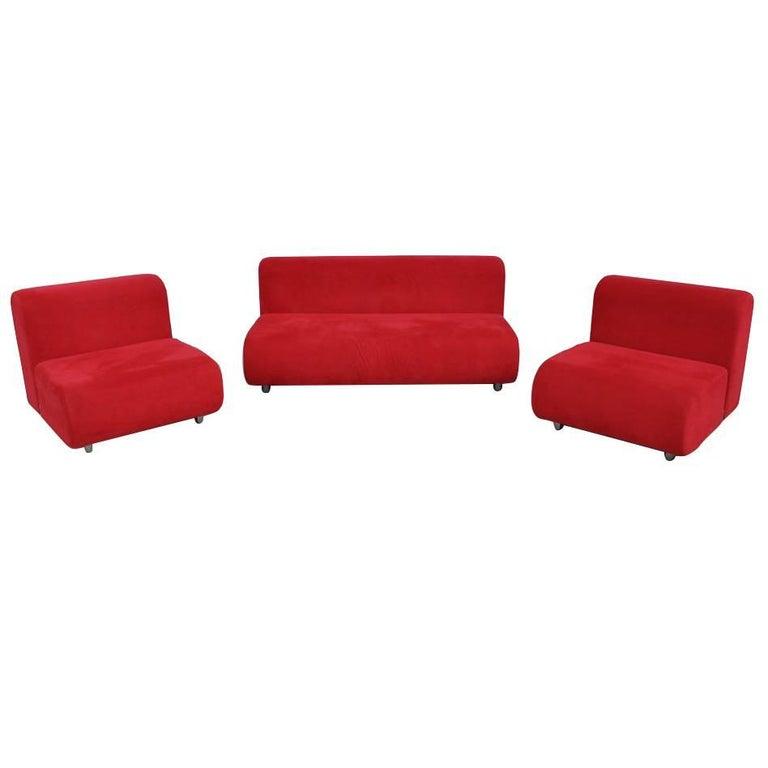 Set Kazuhide Takahama Suzanne Sofa and Lounge Chairs for Knoll