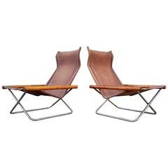 Set of Midcentury Japanese NY Folding Chairs by Takashi Nii for Jox Interni 1958
