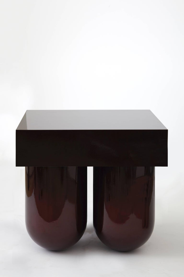 Lacquered Set No.5 Mini Bar by Müsing–Sellés Carved Wood and Metallic Paint Modern For Sale