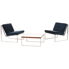 "Set of ""024"" Lounge Chairs and ""869"" Coffee Table by Kho Liang Ie for Artifort"