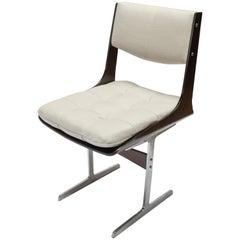 Set of 10, 1960s Brazilian Jacaranda Tufted Dining Chairs in Beige Linen