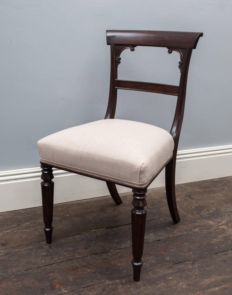 Regency Set of 10 Antique Dining Chairs For Sale
